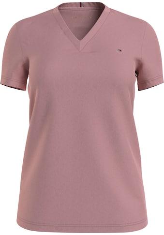 Tommy Hilfiger T-Shirt »NEW V-NECK TEE«, mit Tommy Hilfiger Logo-Flag kaufen