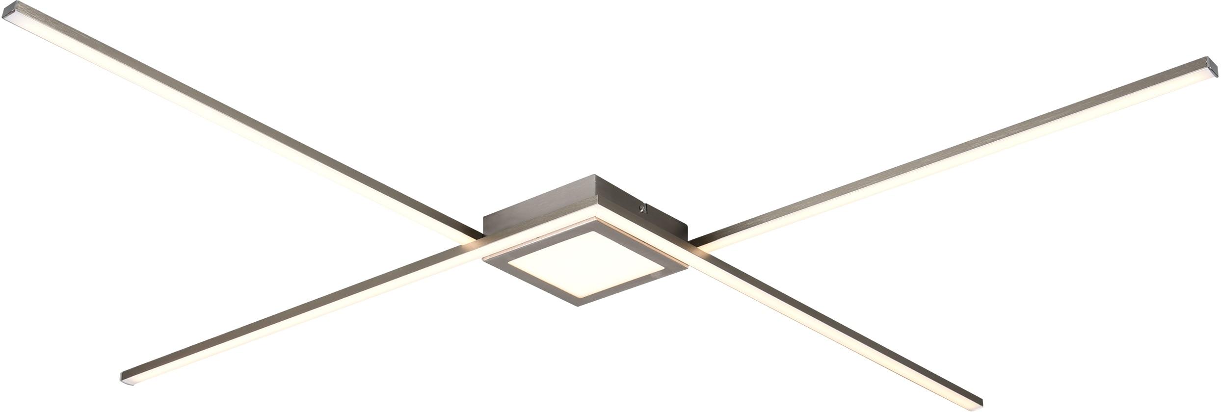 TRIO Leuchten LED Deckenleuchte Oxford, LED-Modul, Warmweiß