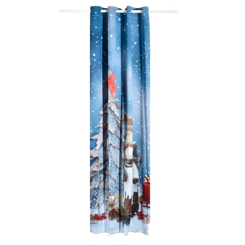 Lüttenhütt Verdunkelungsvorhang »SNOWMAN«, Nachhaltig