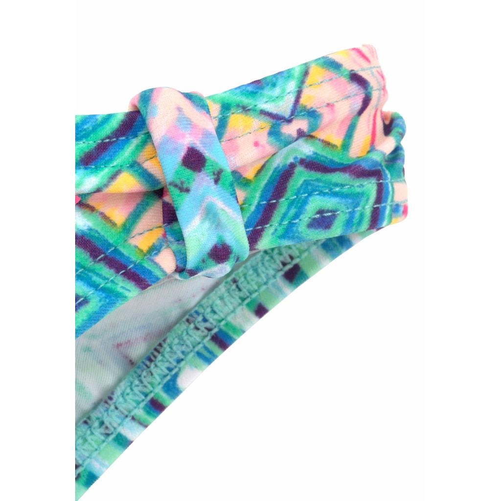 Buffalo Bandeau-Bikini, mit grafischem Muster