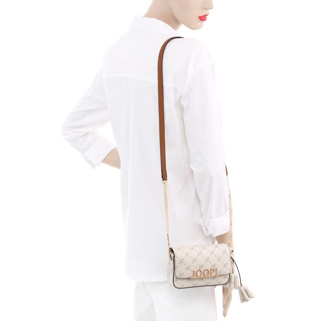 Joop! Umhängetasche »cortina uma shoulderbag xshf 1«, rendigem Ketttenhenkel und goldfarbenen Details