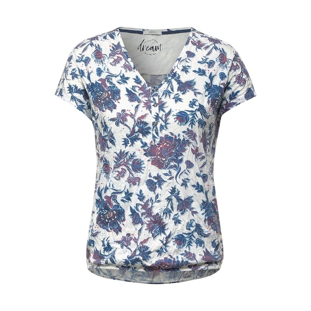 Cecil V-Shirt, mit Blumenmuster