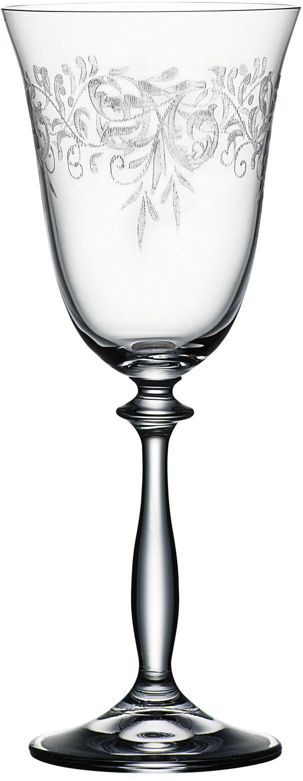Bohemia Selection Weinkelche-Set Kristallglas ROMANCE (6 Stck)   Küche und Esszimmer > Besteck und Geschirr > Gläser   Transparent   Glas - Wachs - Kristallglas   Bohemia Selection