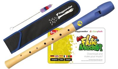 Voggenreiter Blockflöte »Flute Master (App) mit Holz-Kunststoff-Blockflöte«, Sopran, C-Dur, Deutsch kaufen