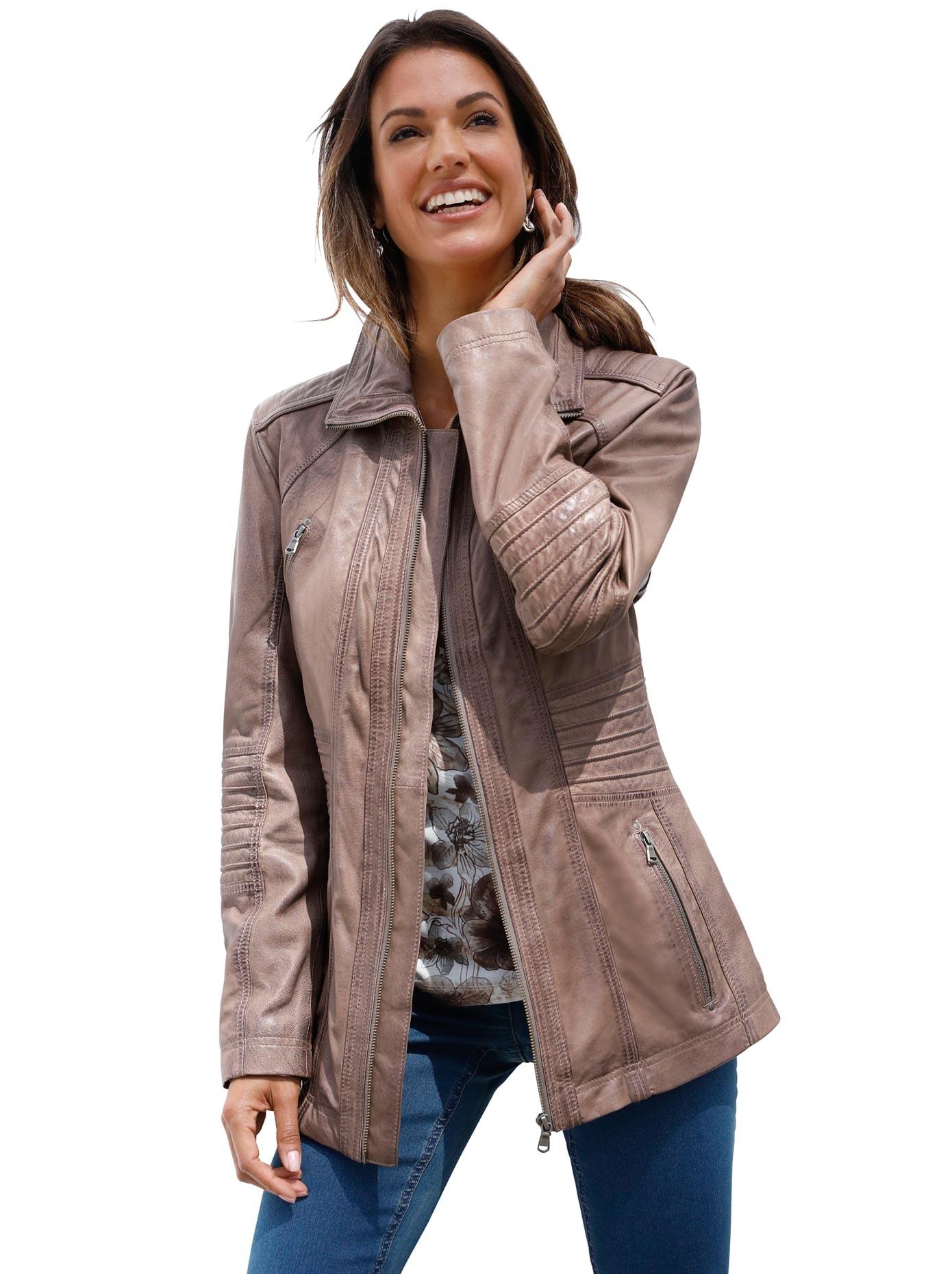 Mainpol Lederjacke aus weichem Lammnappa Leder für | BAUR