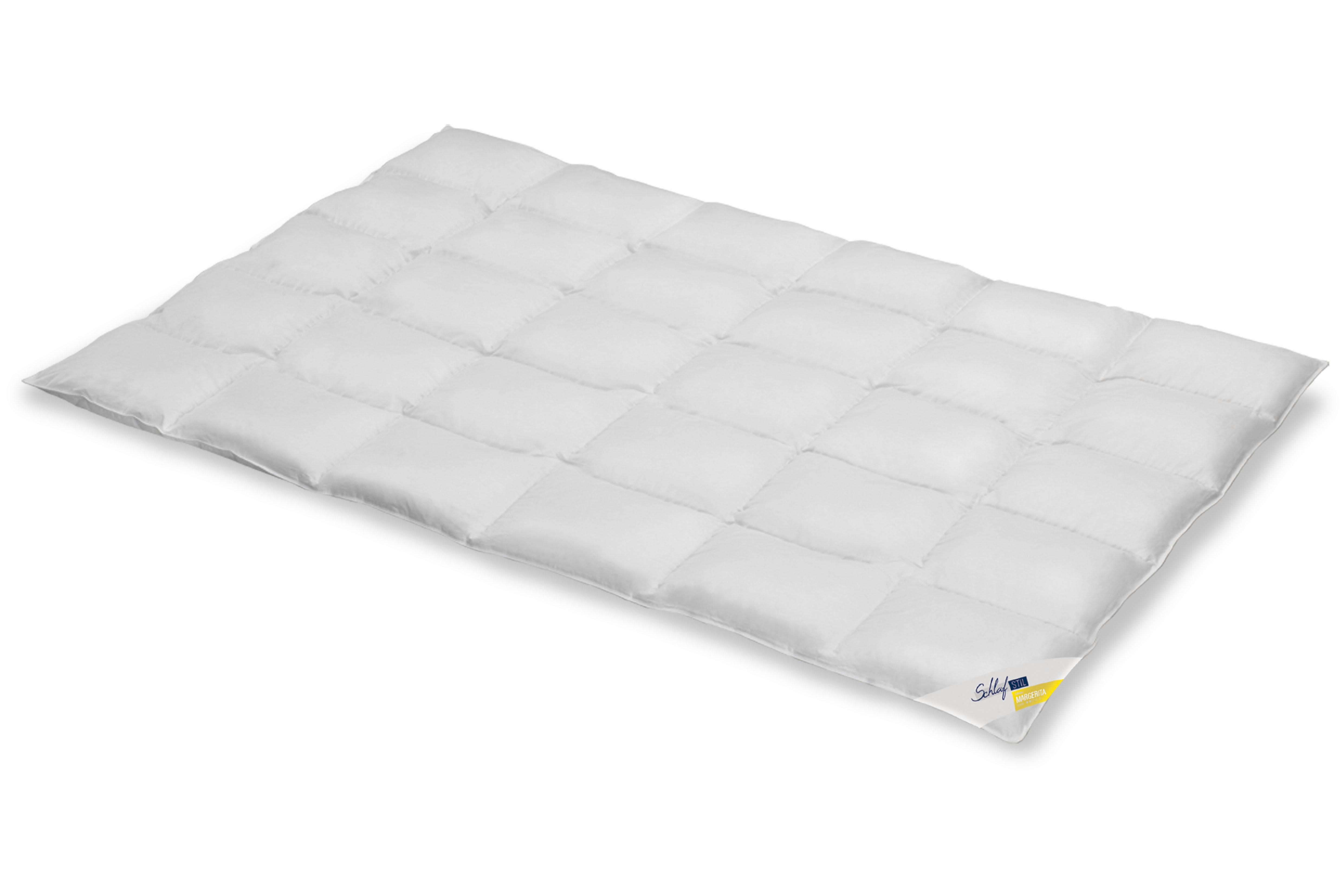 Daunenbettdecke Margerita Schlafstil normal Füllung: 90% Daunen 10% Federn Bezug: 100% Baumwolle