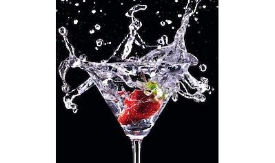 Reinders! Glasbild »Cocktail Splash Erdbeere« kaufen
