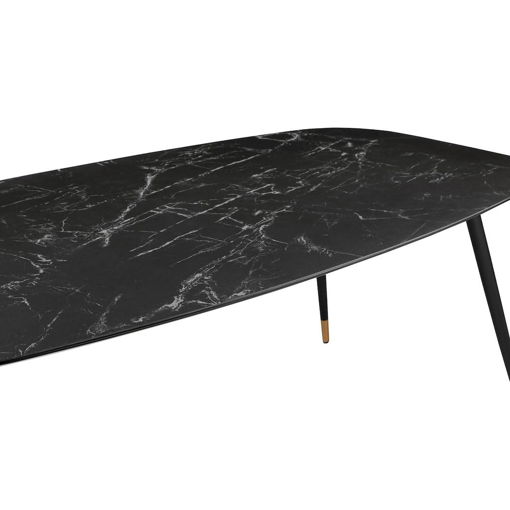 andas Esstisch »Stege«, in Marmoroptik, ovale Tischplatte, Design by Morten Georgsen