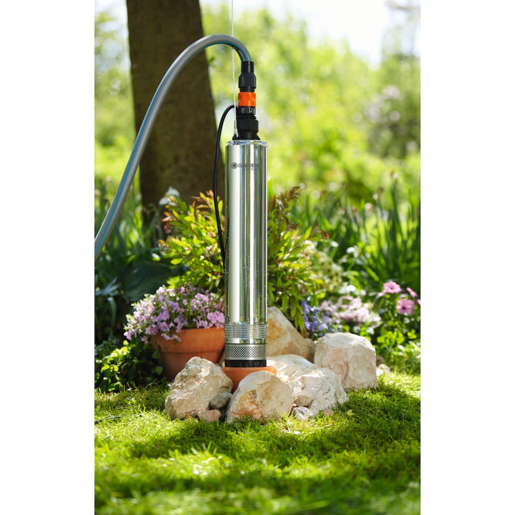 GARDENA Tiefbrunnenpumpe »Premium 5500/5 inox, 01489-20«, 5.500 l/h max. Fördermenge