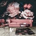 Consalnet Vliestapete »Rosafarbige Blumen«, floral