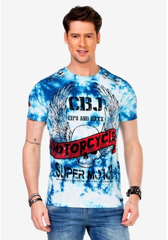Cipo & Baxx T-Shirt, mit coolen Motorcycle-Prints kaufen