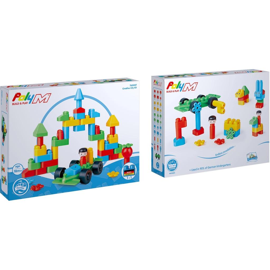 PolyM Konstruktions-Spielset »Kreative Stadt«, (50 St.)