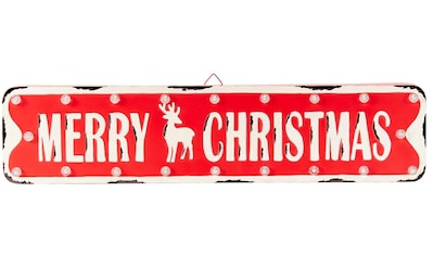 LED Dekoobjekt »Merry Christmas - Schild«, Warmweiß, Batteriebetrieb kaufen