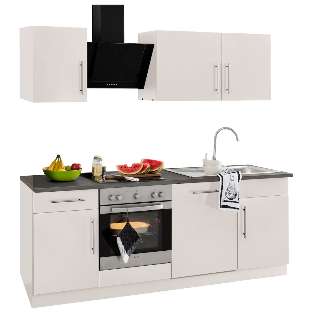 wiho Küchen Küchenzeile »Cali«, ohne E-Geräte, Breite 220 cm