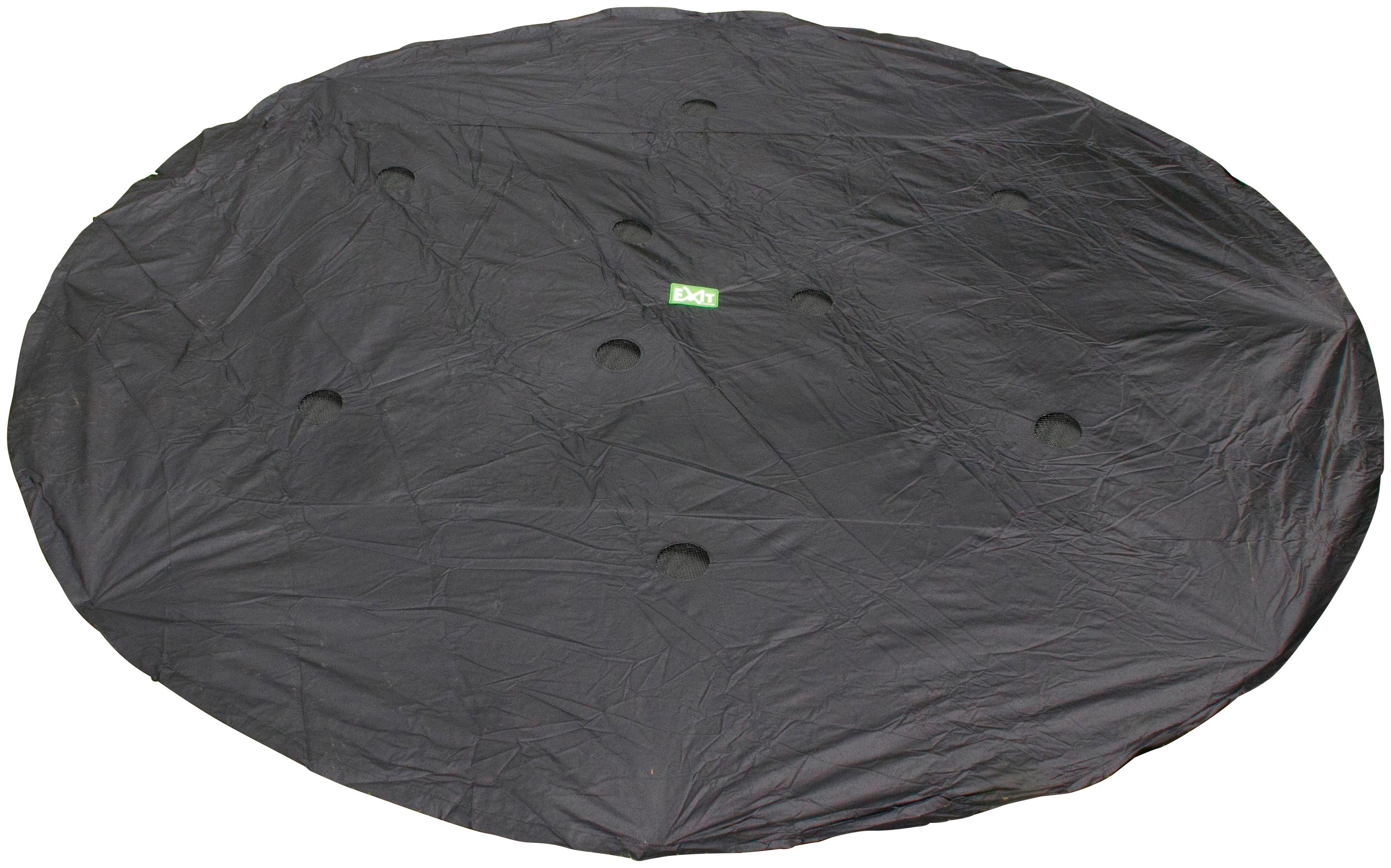 EXIT Trampolin-Abdeckplane, ø: 427 cm, für Trampolin Supreme Ground Level rund schwarz Kinder Exit Trampolin-Abdeckplane