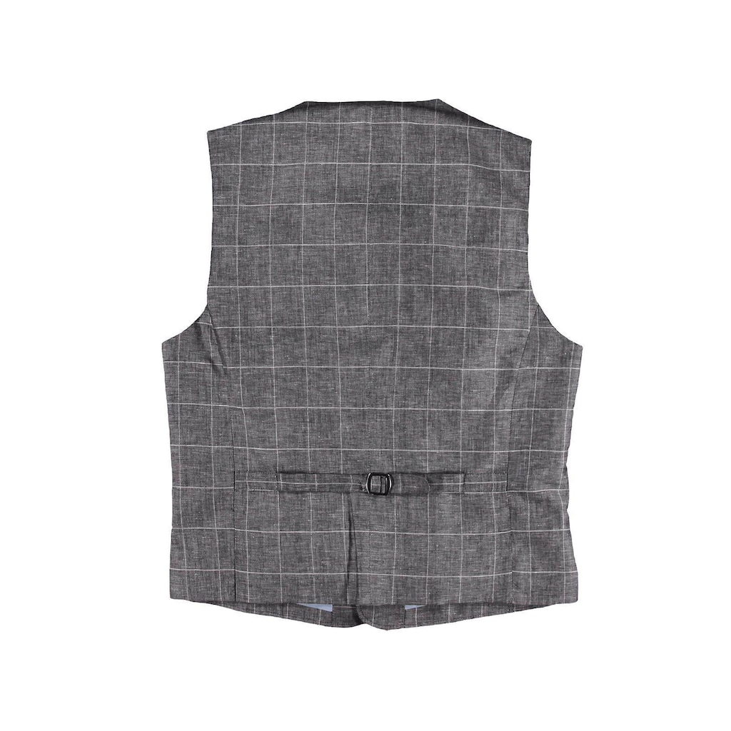 emilio adani Sakkoweste aus leichtem Baumwoll-Leinen-Gemisch