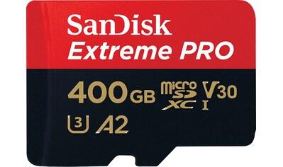 Sandisk Speicherkarte »Extreme Pro microSDXC 400GB + SD Adapter + Rescue Pro Deluxe«,... kaufen