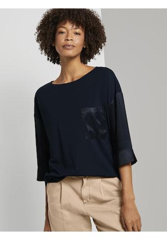 TOM TAILOR mine to five Langarmshirt »Shirt im Materialmix« kaufen