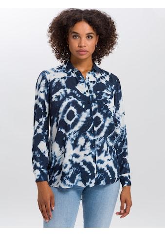 Cross Jeans® Hemdbluse »75273«, Abgerundeter, hinten verlängerter Saum kaufen