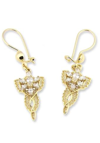 Der Herr der Ringe Paar Ohrhaken »Arwens Abendstern  -  gelbgoldfarben, 20003702« kaufen