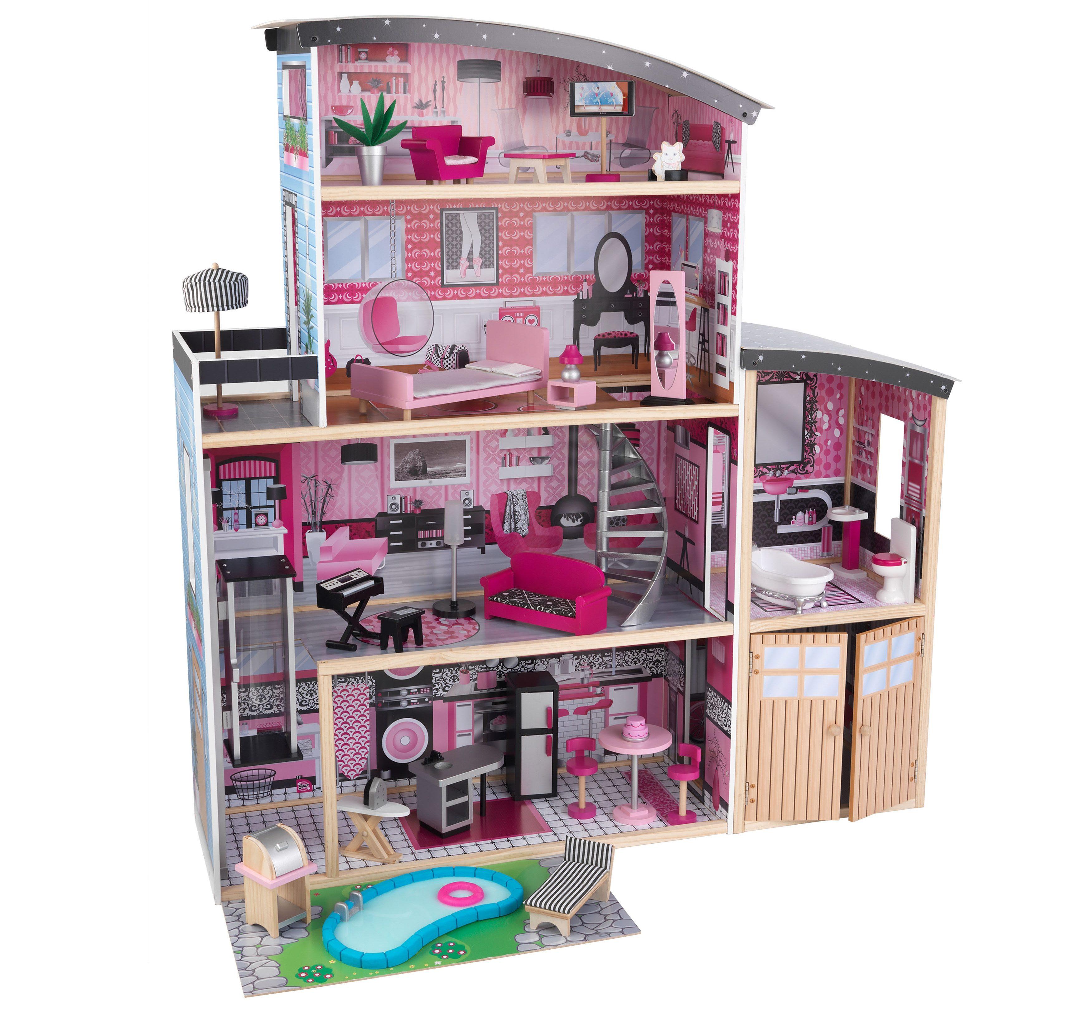 "KidKraft Puppenhaus ""Glitzer Puppen-Villa"" Kindermode/Spielzeug/Puppen/Puppenhaus"