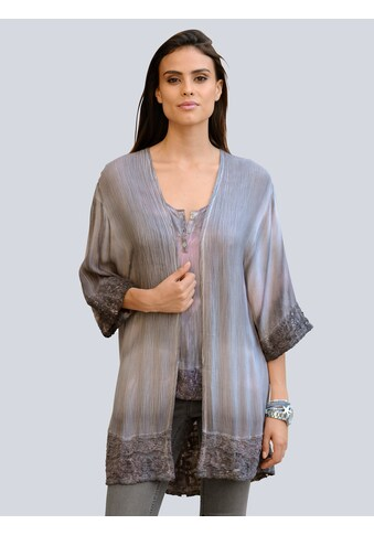 Alba Moda Blusenjacke mit modischem Batikprint kaufen