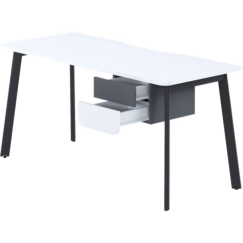 """Schreibtisch »Tes«, Schreibtisch """"Tes"""" mit 2 Schubladen, wahlweise links/rechts montierbar"""