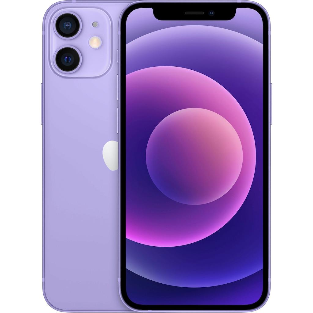 """Apple Smartphone »iPhone 12 mini«, (13,7 cm/5,4 """", 256 GB Speicherplatz, 12 MP Kamera), ohne Strom Adapter und Kopfhörer, kompatibel mit AirPods, AirPods Pro, Earpods Kopfhörer"""