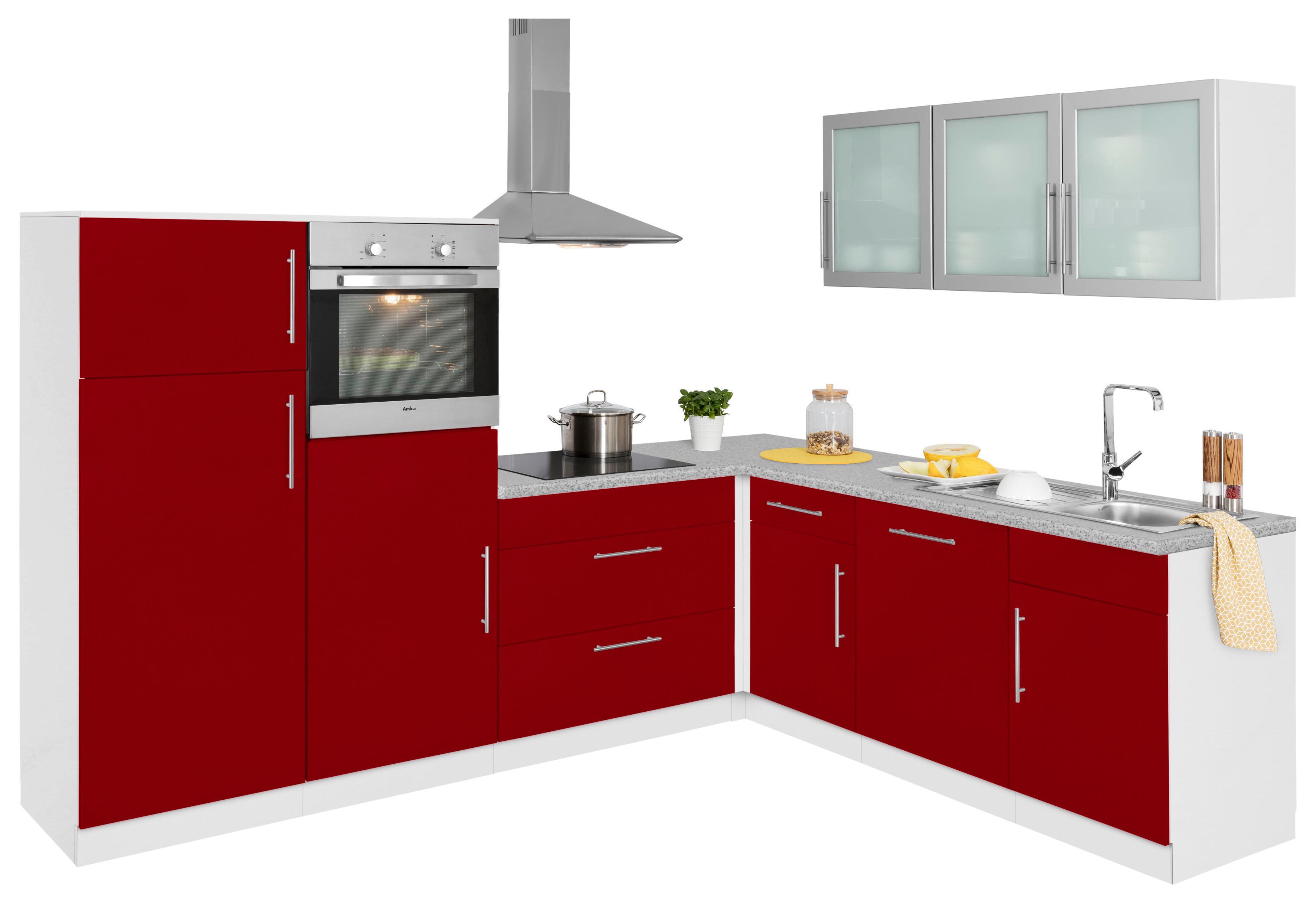 wiho Küchen Winkelküche Aachen mit E-Geräten Stellbreite 270 x 220 cm