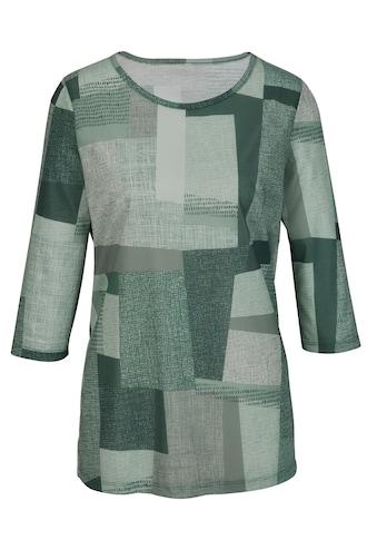 Classic Basics Longshirt mit Patchwork - Muster kaufen