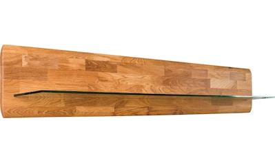 andas Wandregal »Freyr«, aus massivem Eichenholz mit Hintergrundbeleuchtung, Breite... kaufen