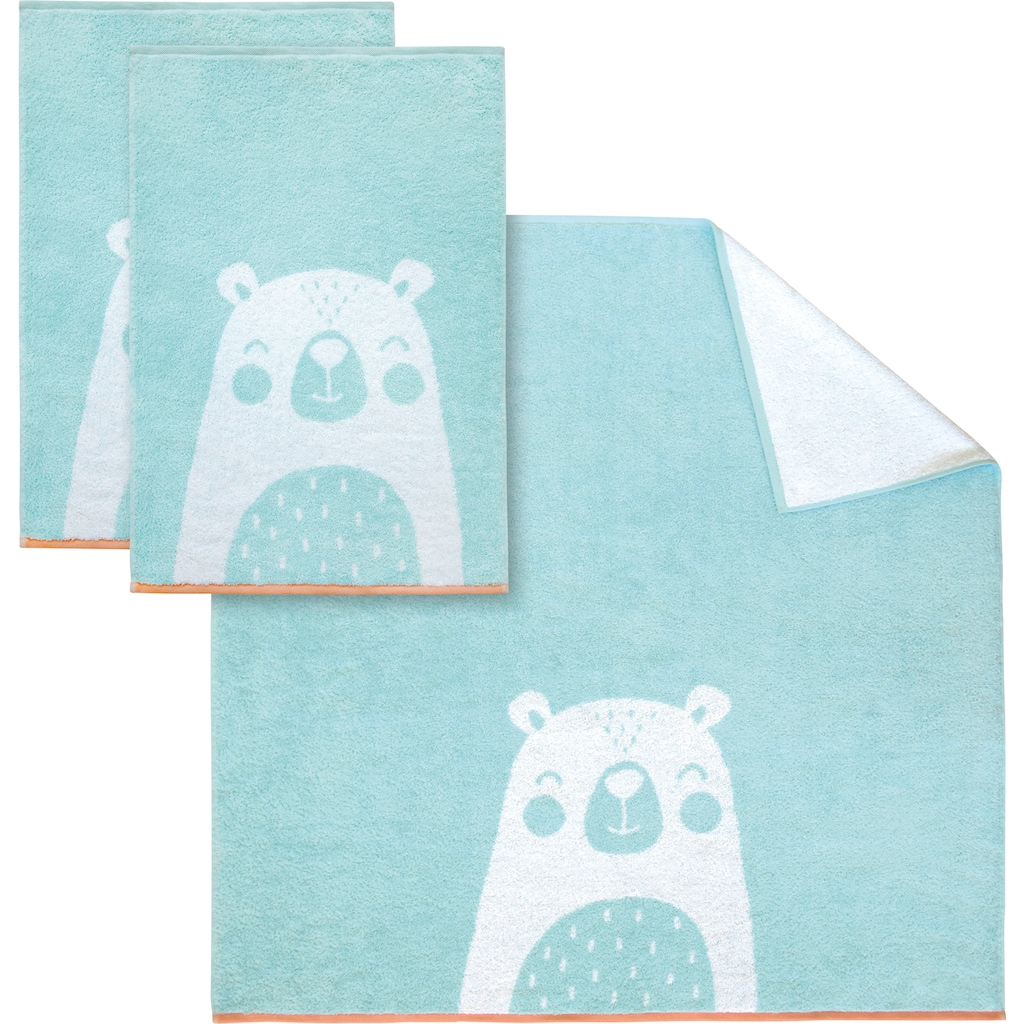 Dyckhoff Handtuch Set »Bear«, mit niedlichem Bärenmotiv