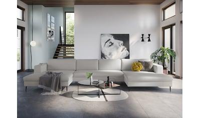 DOMO collection Wohnlandschaft, in moderner Optik mit, 2 großzügigen Recamieren, frei im Raum stellbar kaufen