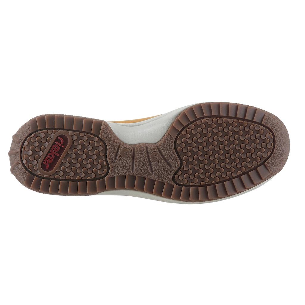 Rieker Schnürschuh, mit trendigem Zier-Reißverschluss