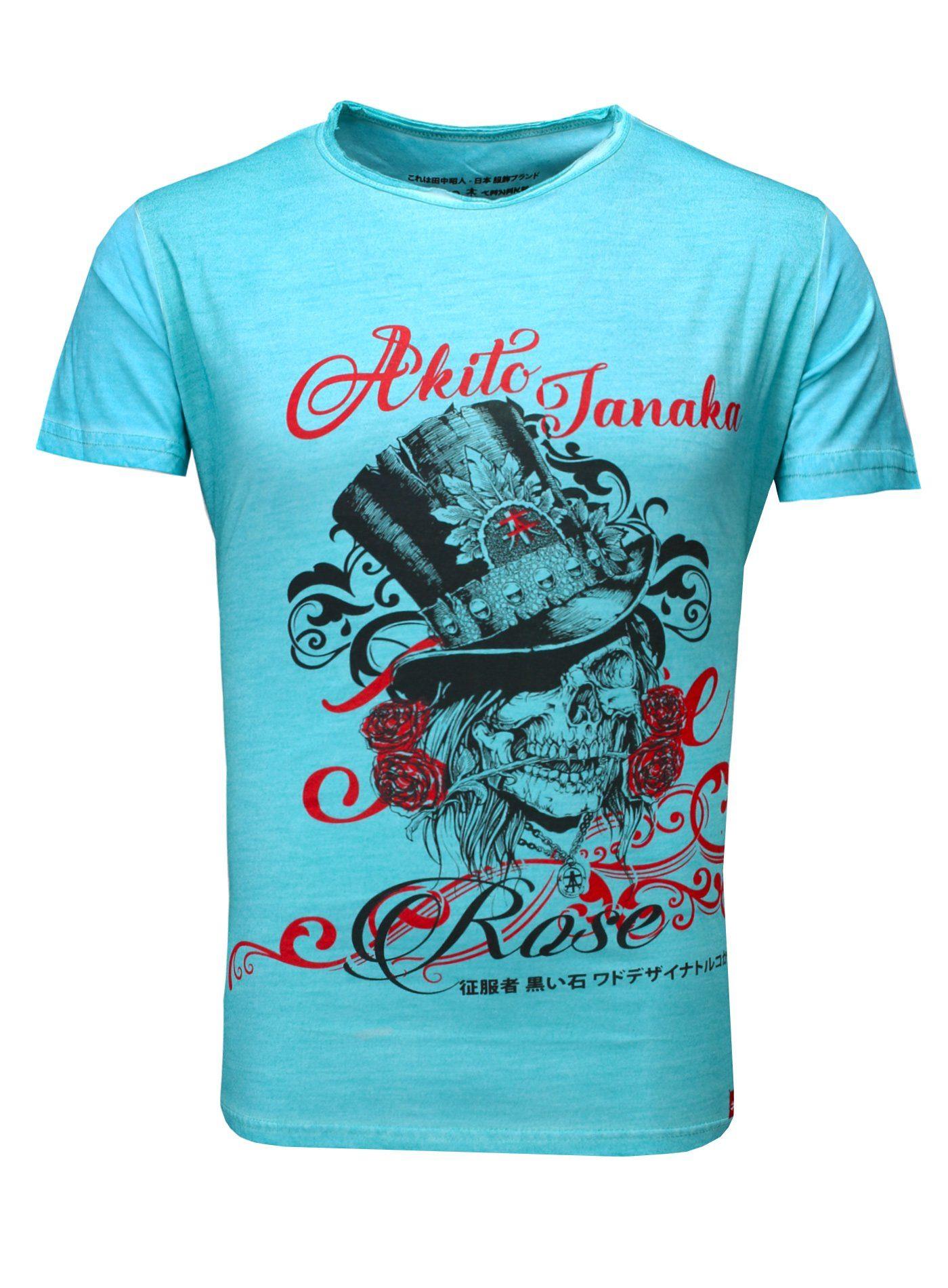 Akito Tanaka Print-Shirt »Skull Deluxe« | Bekleidung > Shirts > Sonstige Shirts | Blau | Jeans | AKITO TANAKA