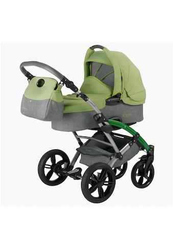 """Knorrbaby Kombi - Kinderwagen """"Voletto Happy Colour, grau - hellgrün"""" kaufen"""