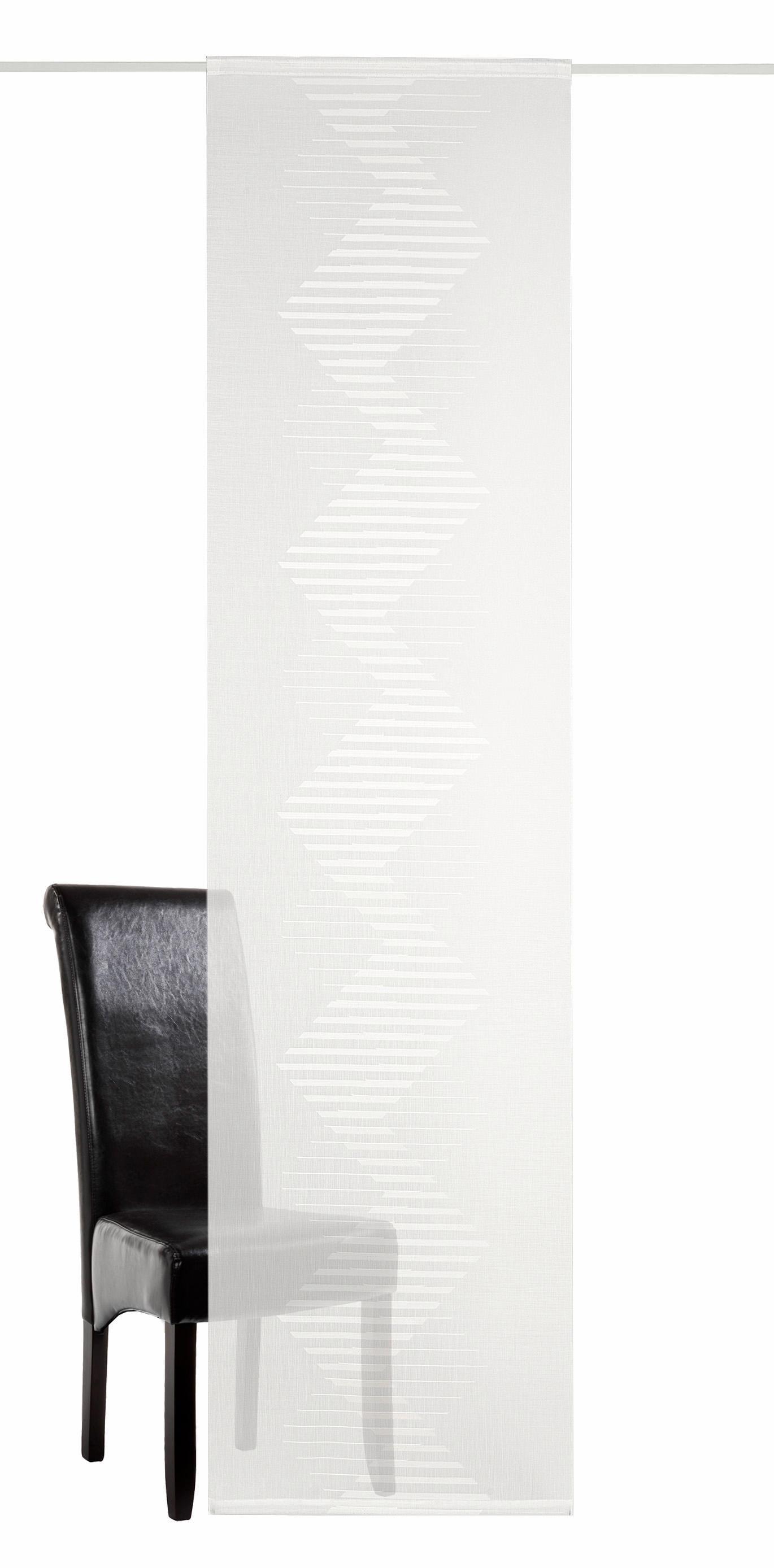 Schiebegardine Mika DEKO TRENDS Klettband 1 Stück | Heimtextilien > Gardinen und Vorhänge > Schiebegardinen und Schiebevorhänge | Weiß | Deko Trends