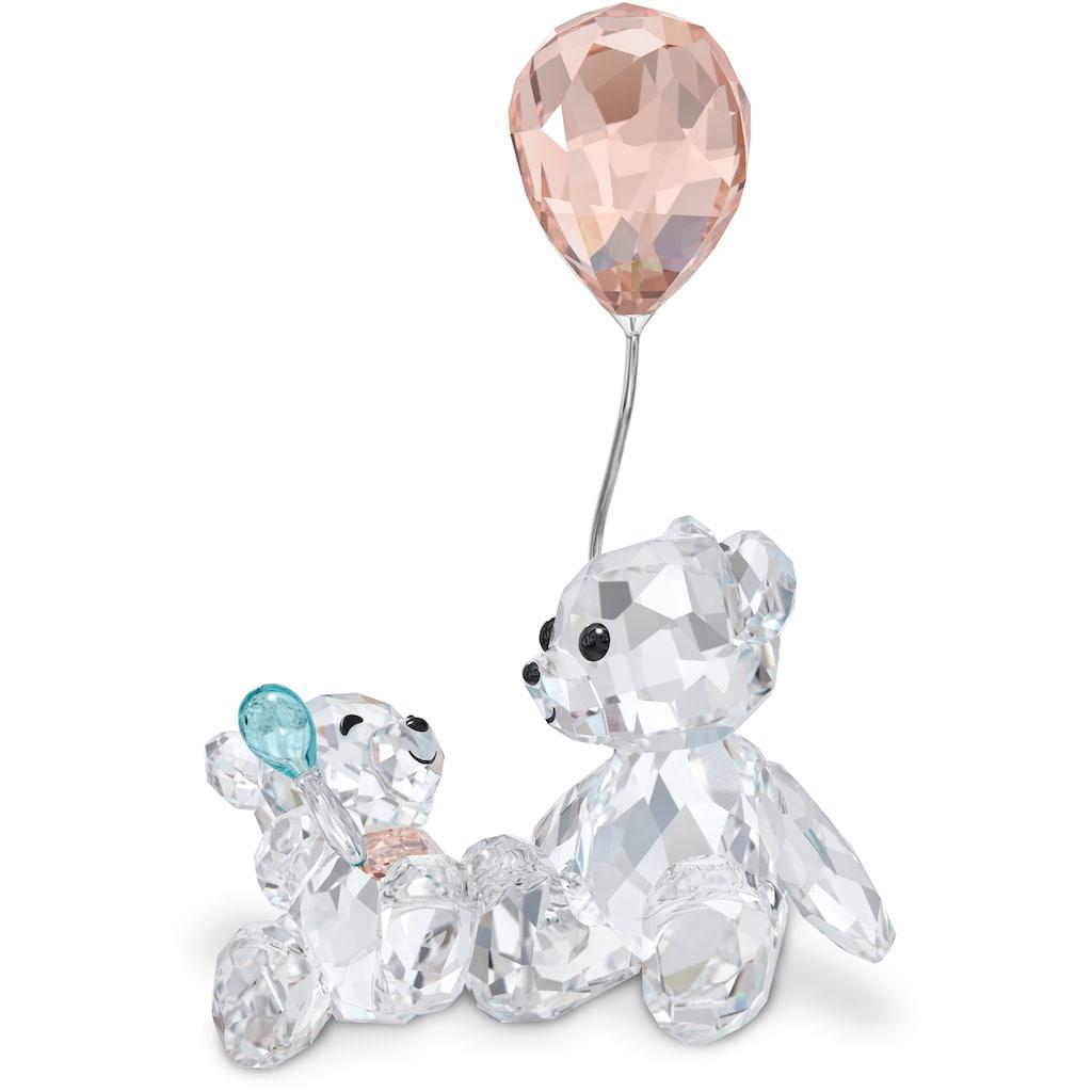 Swarovski Dekofigur »My Little Kris Bear Mutter & Baby, 5557542«, Swarovski® Kristall mit schwarzem Emaille