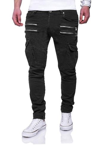 behype Slim-fit-Jeans »BENJAY«, im modernen Biker-Style kaufen