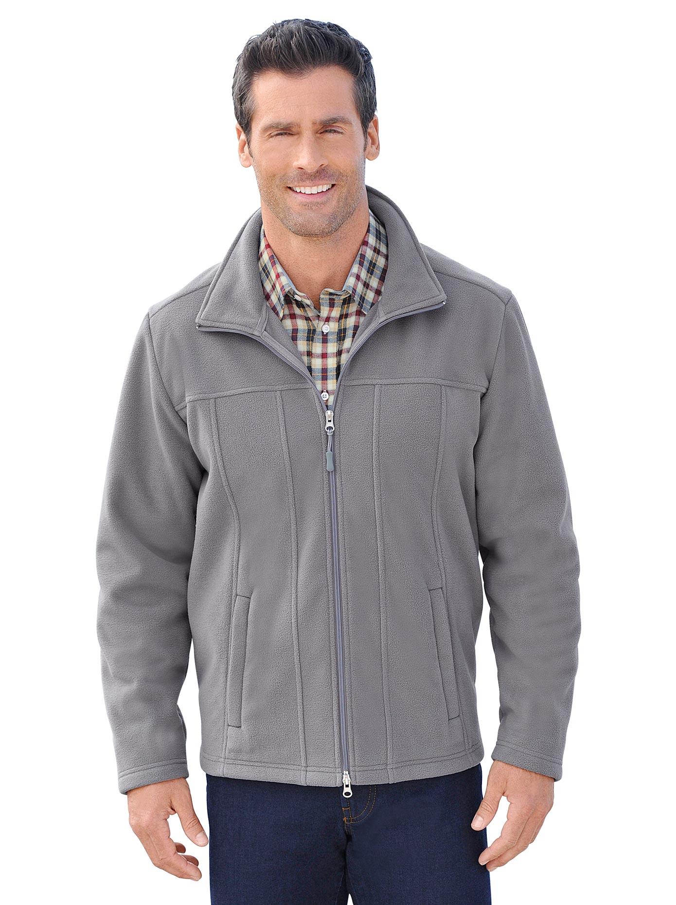 Marco Donati Fleece-Jacke mit Reißverschluss | Bekleidung > Jacken > Fleecejacken | Grau | Fleece | MARCO DONATI