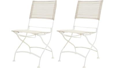 PLOSS Gartenstuhl »Rom«, (2er Set), klappbar, pulverbeschichtetes Eisen/Textil kaufen