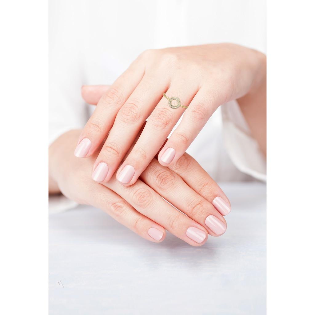 Diamore Verlobungsring »Kreis Geo Diamant Verlobung 0.08 ct. 375 Gelbgold«