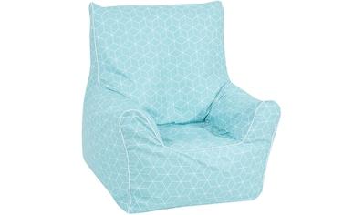 Knorrtoys® Sitzsack »Junior  -  Geo cube, neo mint« kaufen
