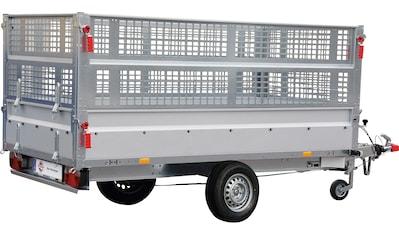 STEMA PKW - Anhänger »BASIC SH 1300 - 25 - 13«, Set, inkl. Gitteraufsatz und Flachplane kaufen