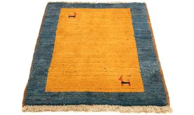 morgenland Wollteppich »Gabbeh Teppich handgeknüpft gold«, rechteckig, 18 mm Höhe,... kaufen