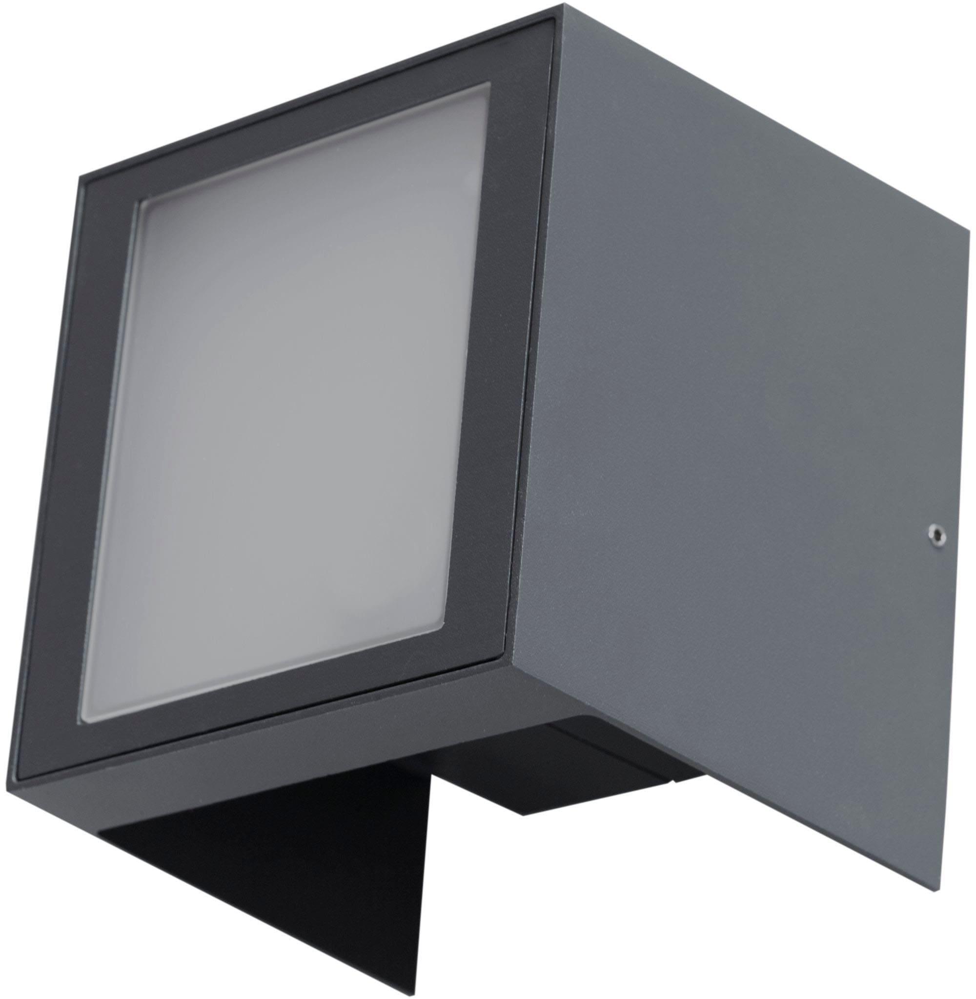 HEITRONIC Außen-Wandleuchte Plaza, LED-Board, Warmweiß, Lichtaustritt oben und unten individuell verstellbar