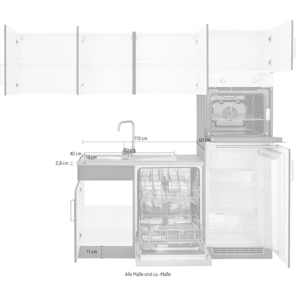 HELD MÖBEL Winkelküche »Stockholm«, mit E-Geräten,230 x 170 cm, wahlweise mit Induktionskochfeld