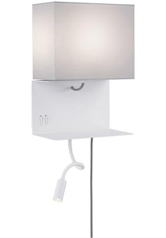 Paulmann LED Wandleuchte »Merani Grau/Weiß max 1x40W/3W E27 Stoff/Metall«, E27, Warmweiß kaufen