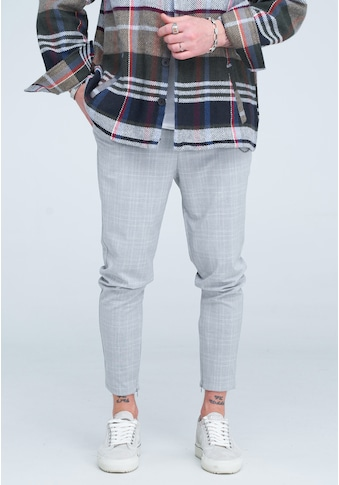 behype Chinohose »HENNRY«, mit modischem Glencheck-Muster kaufen
