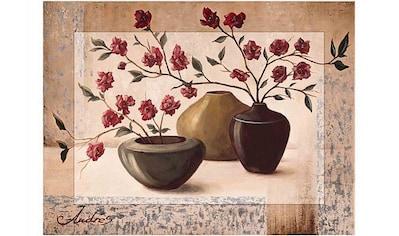 Home affaire Kunstdruck »Andres: Silver framed cherry blossoms« kaufen